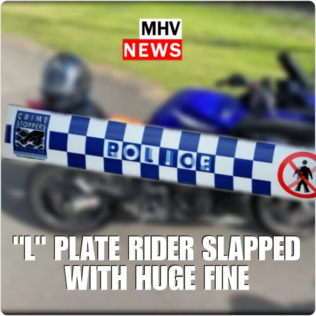 """""""L"""" PLATE RIDER SLAPPED WITH HUGE FINE"""