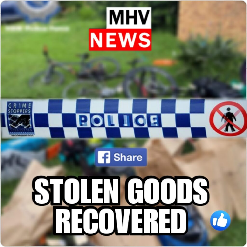 Stolen goods recovered – Lake Macquarie