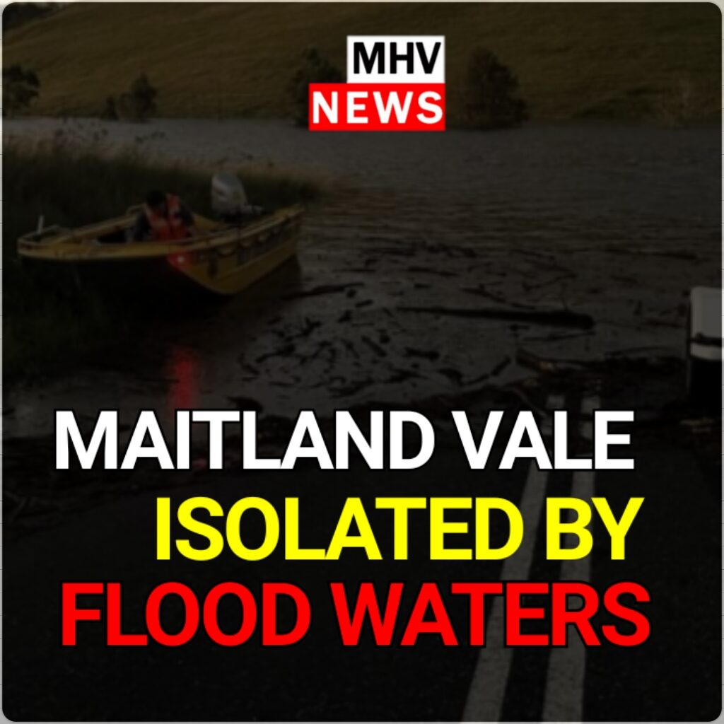 Maitland Vale completely isolated by flood waters
