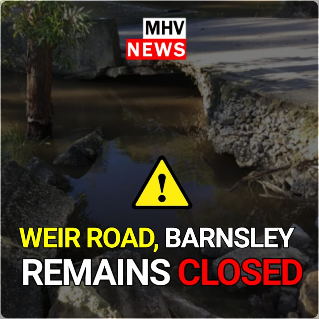 Weir Road, Barnsley to remain closed for the foreseeable future