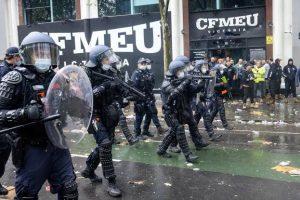 CFMEU BLAMES NEO NAZI FOR VIOLENCE OUTSIDE HEADQUARTERS.